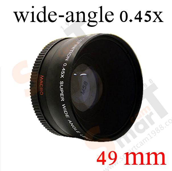 49mm Super Wide-Angle Lens 0.45X Wide Angle + Macro Lens 0.45x