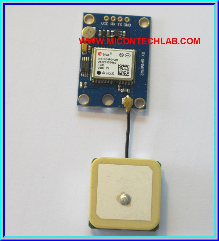 1x Ublox NEO-6M GPS module with Antenna
