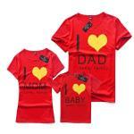 เสื้อครอบครัว ชุดครอบครัว ผ้าเนื้อนิ่ม มาครบ พ่อ แม่ ลูกสาว ลูกชาย FC 0038 Red