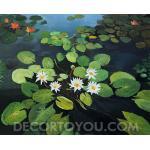 ภาพสระบัว Canvas 34x46 cm.