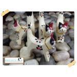 ตุ๊กตาแมวหมู่ไม้ #สีไม้(ขาว)