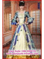 ชุดเจ้าหญิงอลิซาเบธ สีน้ำเงิน