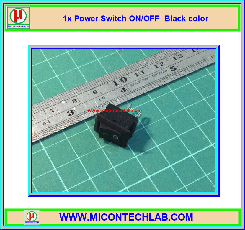 1x Power ON/OFF Switch Black Color 250V 3A