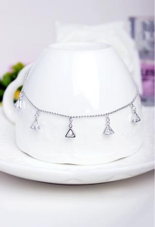 New personalized fashion geometric triangle mosaic zircon diamond