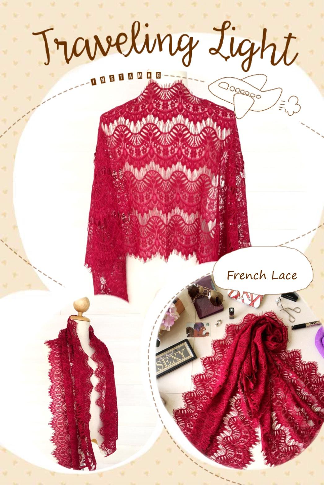 ผ้าคลุมไหล่ พร้อมกล่องของขวัญ รุ่น Delicated French Lace in Burgundy Red (Size M) ผ้าพันคอ ผ้าคลุมไหล่ลูกไม้ฝรั่งเศสสีแดงเลือดนก สีสวยมากๆ สวยหรู เป๊ะ ปัง อลังการ สีนี้เริ่ดมากๆ เลยค่ะ ห้ามพลาดเด็ดขาดกับสินค้าชิ้นนี้ มันดีมากเวอร์ ผ้าพันคอ พร้อมกล่อง/ซองแ