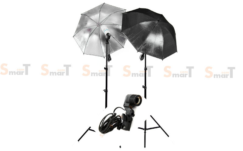 Light Set with 2 Set Day light Lamp E27 Bulb x2 Holder With Umbrella