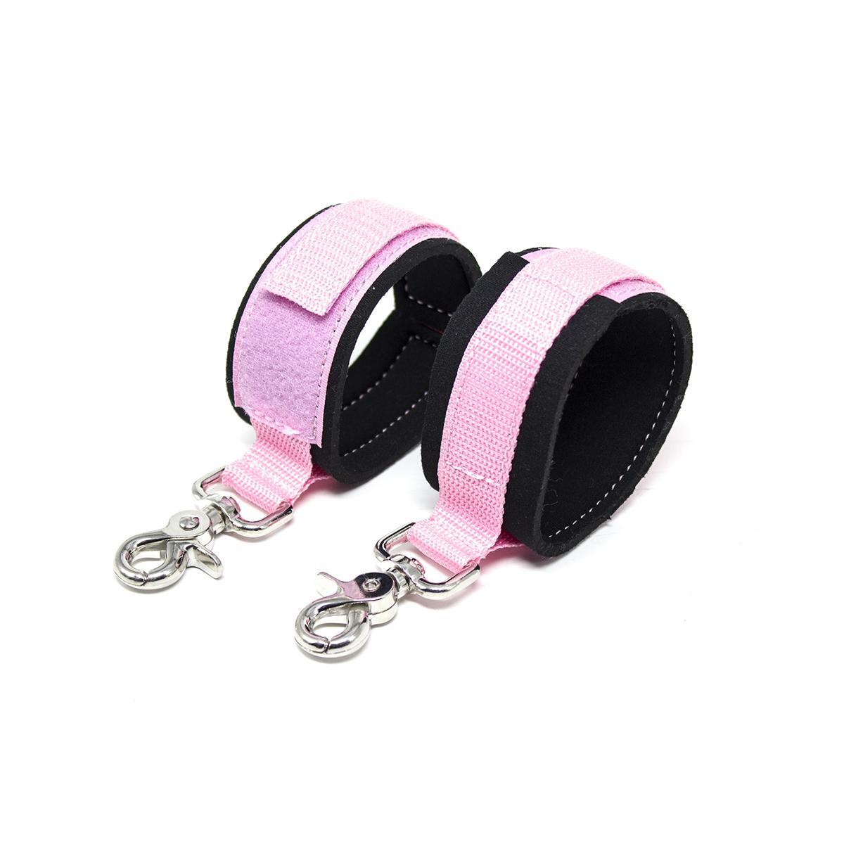 Pre Order / อุปกรณ์ HM กุญแจมือ สายสีชมพู กว้าง 5 CM.