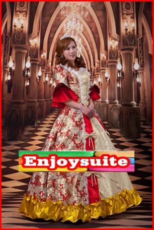 ชุดเจ้าหญิงอลิซาเบธ สีแดง