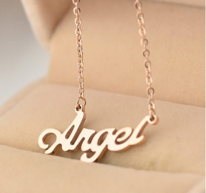 สร้อยคอ จี้อักษร ANGEL