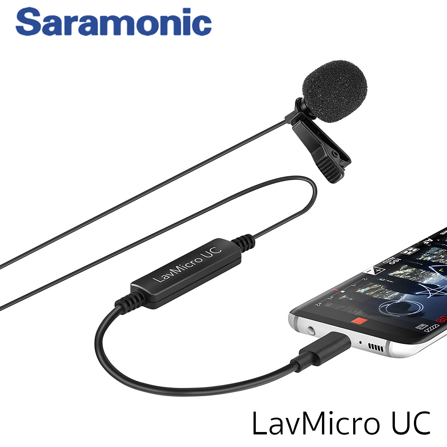 Saramonic LavMicro UC Broadcast-Quality Lavalier Omnidirectional Microphone for USB Type-C Devices Including Samsung Galaxy, LG, HTC Google Pixel, Google Nexus, Other USB C Type Smartphones