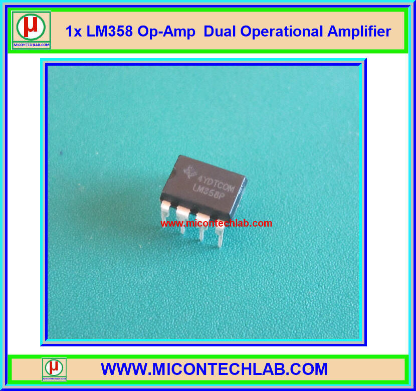 1x LM358 Op-Amp Dual Operational Amplifier IC Chip