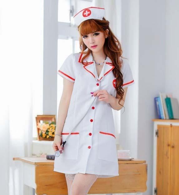Pre Order / ชุดพยาบาลเซ็กซี่ พร้อมหมวก จีสตริง (ไม่มีถุงน่อง)