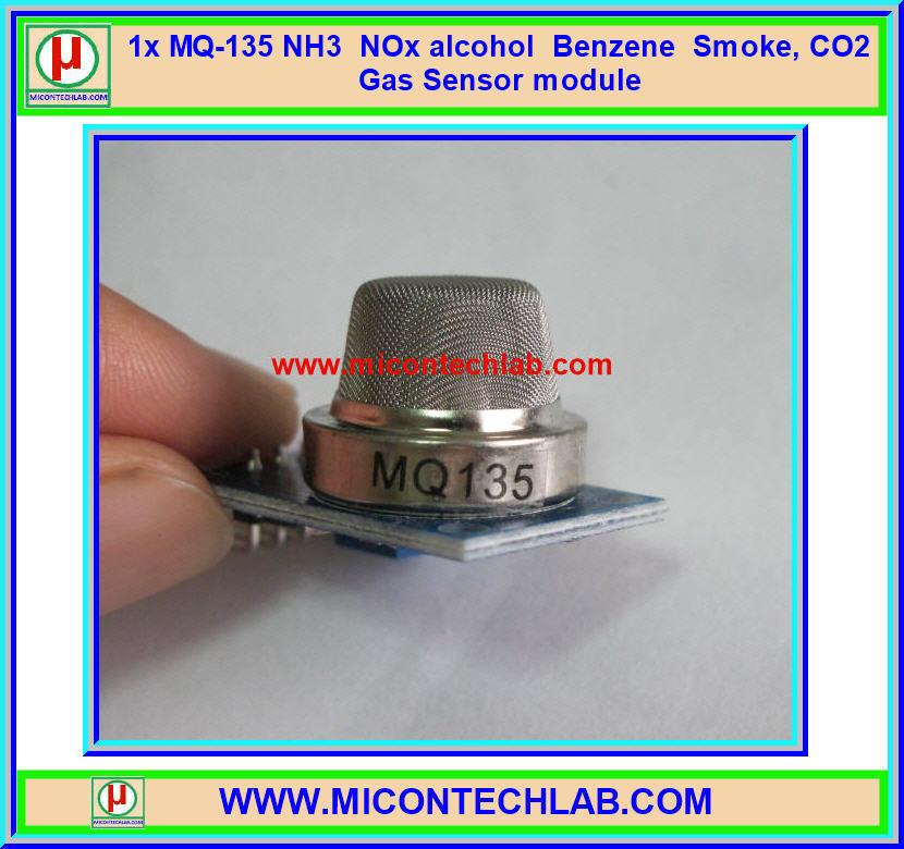 1x MQ-135 NH3,NOx, alcohol, Benzene, smoke,CO2 MQ135 Gas Sensor Module