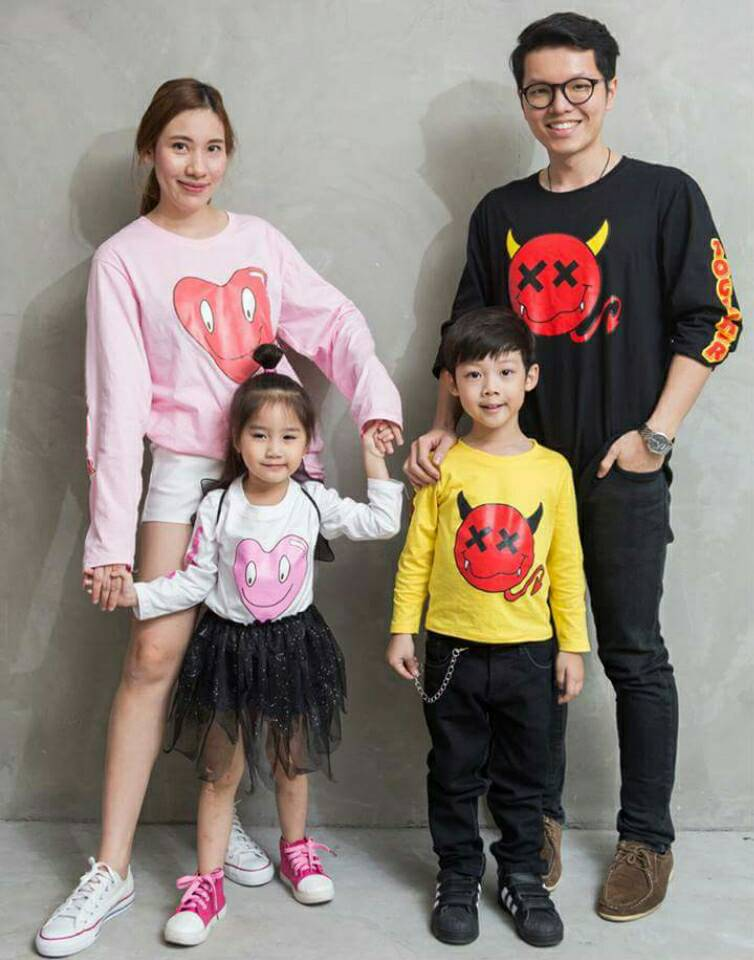 เสื้อครอบครัว ชุดครอบครัว พ่อ แม่ ลูก Collection Devil Beside You