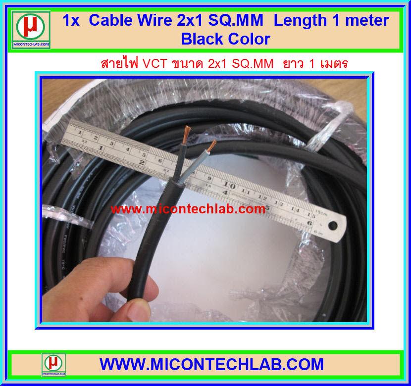 1x สายไฟ VCT 2x1.0 ตร.มม. ยาว 1 เมตร (Cable Wire VCT)