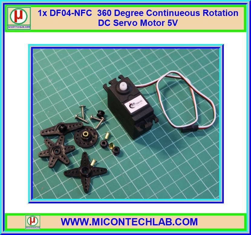 1x DF04-NFC 360 Degree Continueous Rotation DC Servo Motor 5V