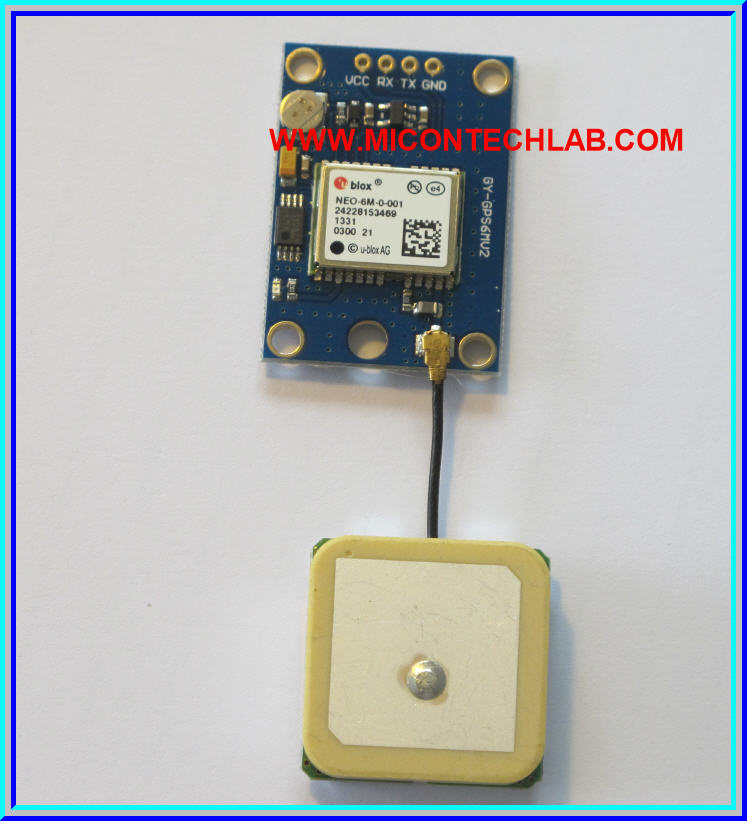 1x Ublox NEO-6M GPS module with Antenna