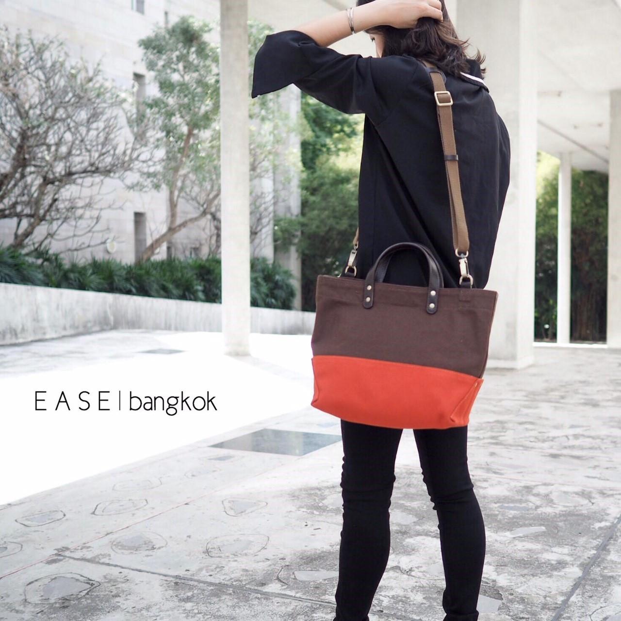 EASE - Daily Tote กระเป๋าผ้าแคนวาส + หนังวัวแท้