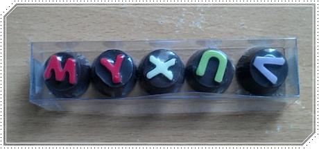 กล่อง ช็อคโกแลต abc 5 ตัวอักษร
