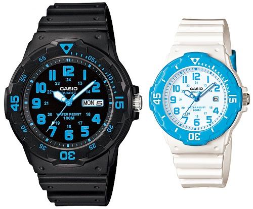 นาฬิกาคู่ นาฬิกาคู่รัก นาฬิกาคู่รัก ราคาถูก นาฬิกาเซตคู่ นาฬิกาข้อมือคู่ นาฬิกาข้อมือคู่รัก นาฬิกาคู่ นาฬิกา CASIO นาฬิกาคู่ สายยางเรซิน MRW-200H-2B กับ LRW-200H-2B ประกันศูนย์ 1 ปีเต็ม