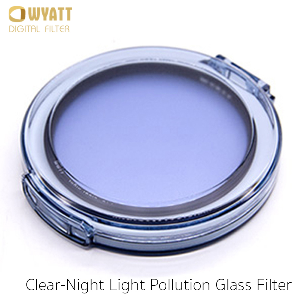WYATT 67/72/77/82mm Natural Night Clear-Night Light Pollution Glass Filter