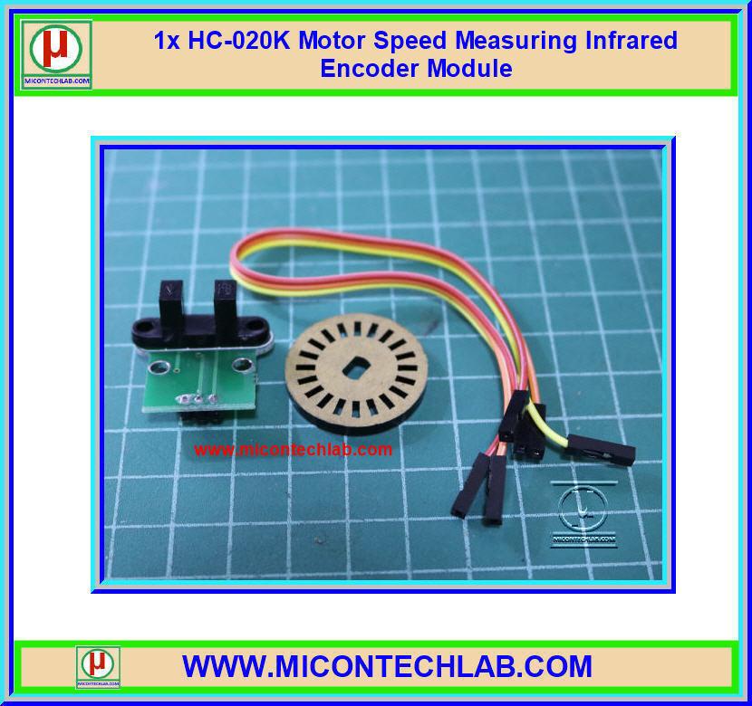 1x HC-020K Motor Speed Measuring Photoelectric Infrared Encoder Module