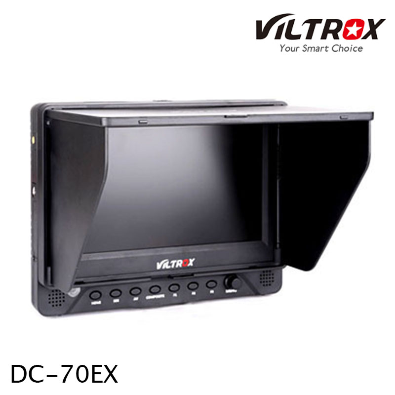 Viltrox 7'' DC-70EX TFT Professional ­High-definition Monitor DSLR camera/video camera with HDMI and SDI