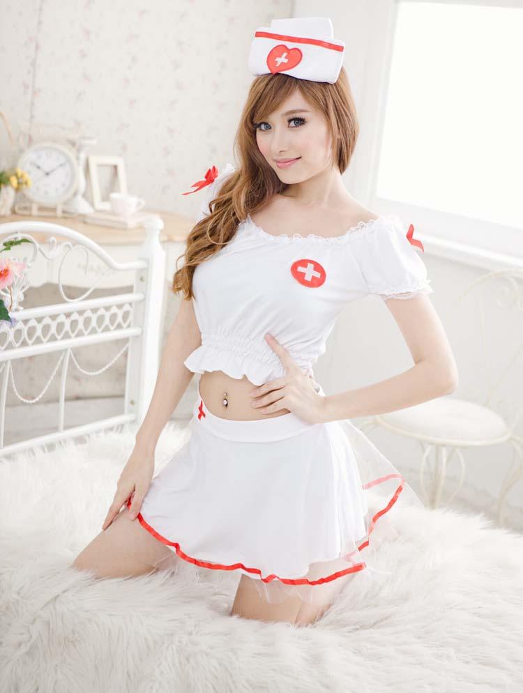 พร้อมส่ง / ชุดพยาบาลสาวน้อยน่ารัก ๆ ผ้าคุณภาพดีค่ะ สินค้าเหมือนแบบ 95-100 %