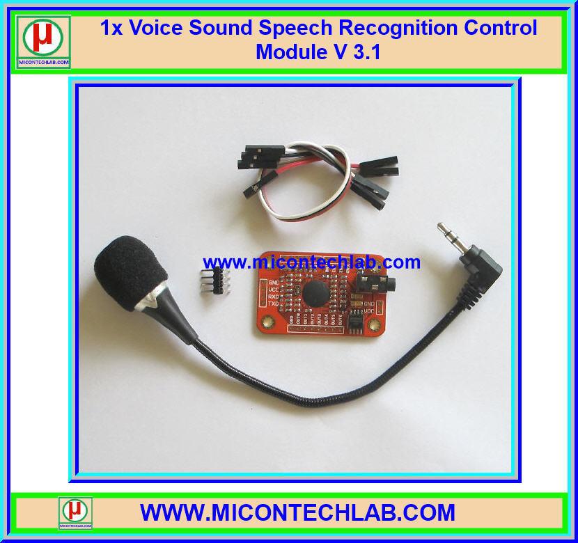 1x Voice Sound Speech Recognition Control Module V 3.1