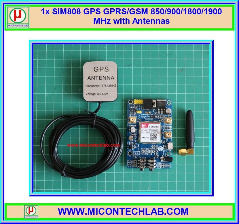 1x SIM808 GPS GPRS/GSM 850/900/1800/1900 MHz with Antennas