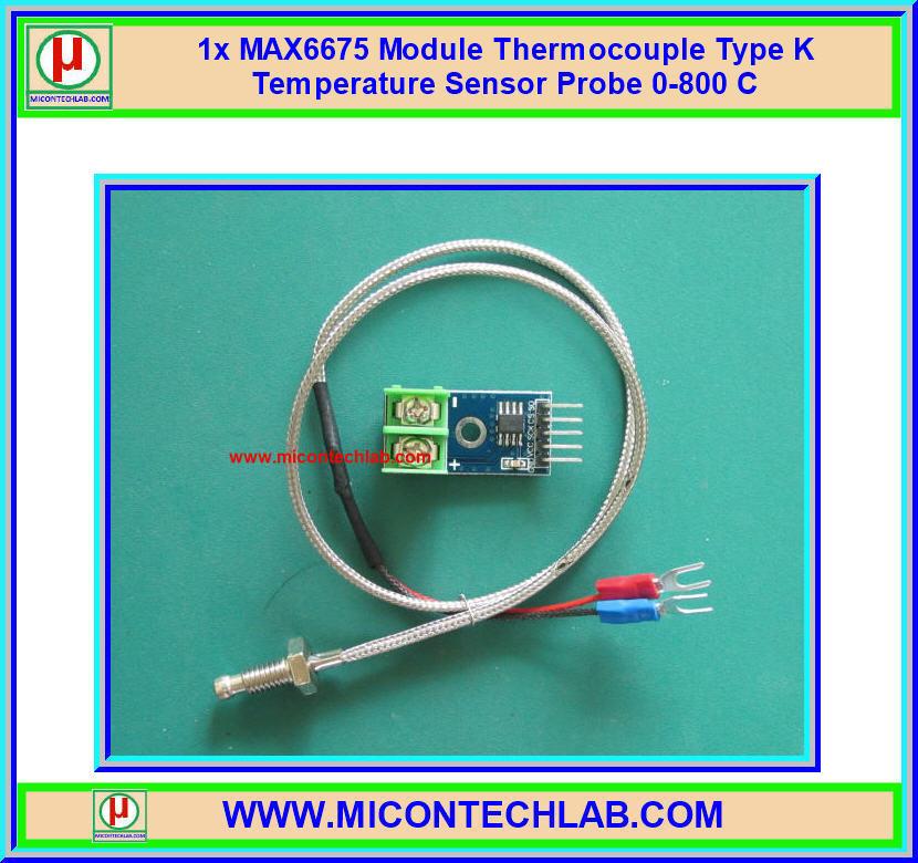 1x MAX6675 Module Thermocouple Type K Temperature Sensor Probe 0-800 C
