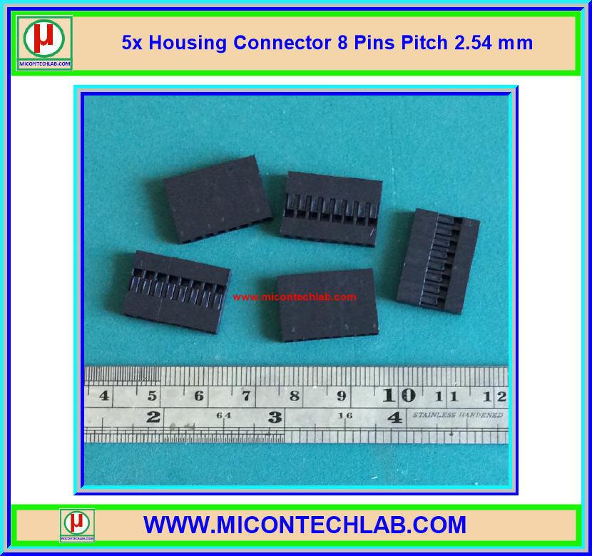 5x Housing Connector 8 Pins Pitch 2.54 mm (คอนเน็คเตอร์แบบ 8 ขา)