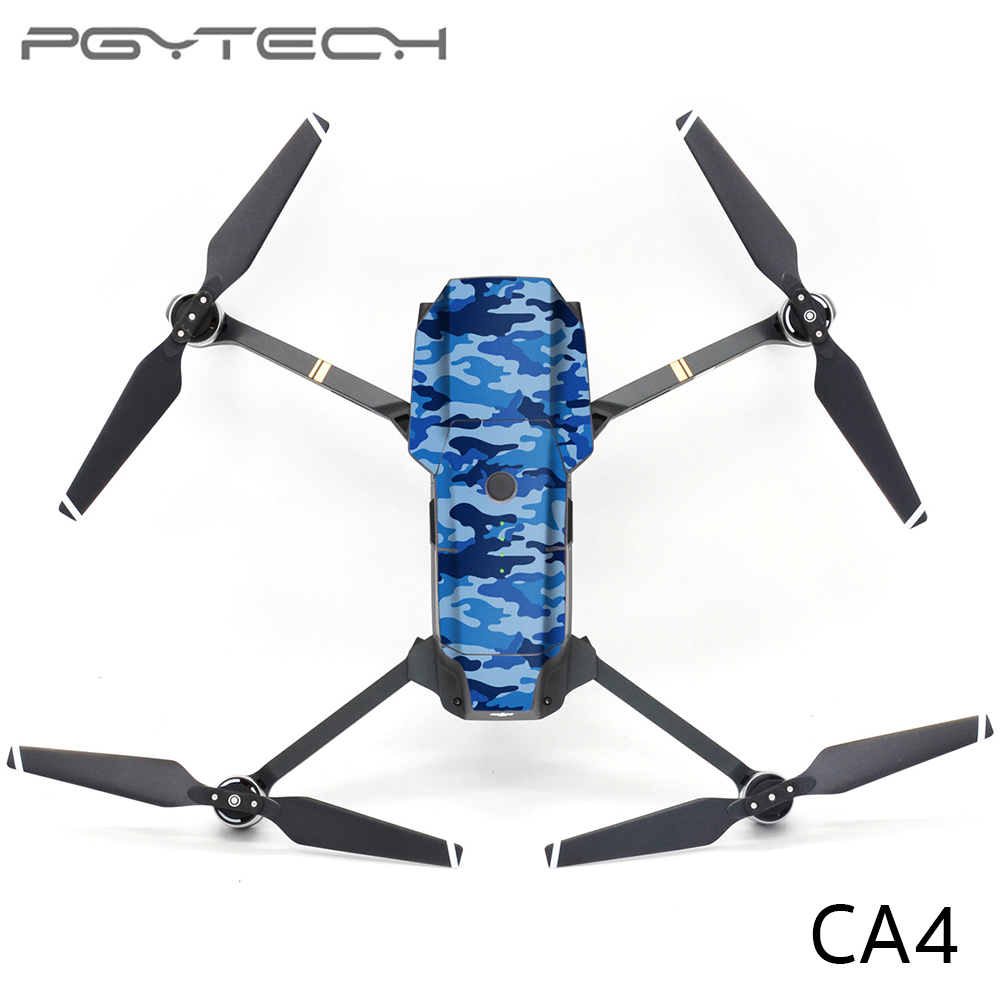 PGYTECH CA4 Mavic PRO Sticker Drone Body & 2pcs battery stickers Decals For DJI Mavic PRO Drone Free Remote Control Protective Film