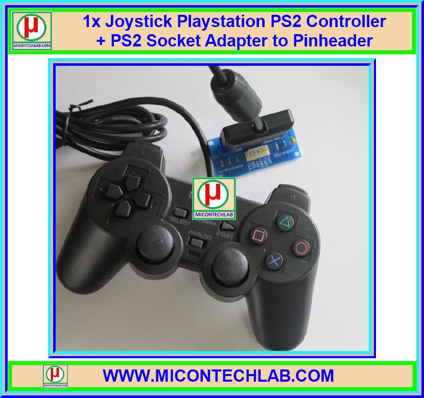1x Joystick Playstation PS2 Controller + PS2 Socket Adapter to Pinheader