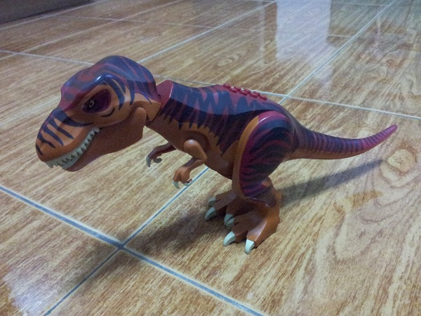 Dino T-Rex with Dark Red and Dark Brown Back