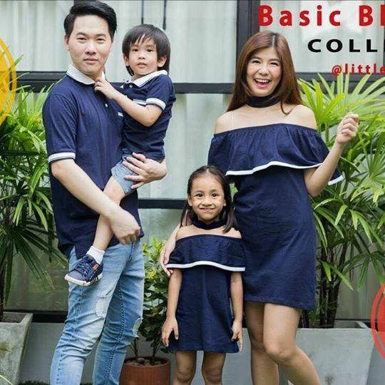 เสื้อครอบครัว ชุดครอบครัว พ่อ แม่ ลูก 💗Set Basic Blue 💗