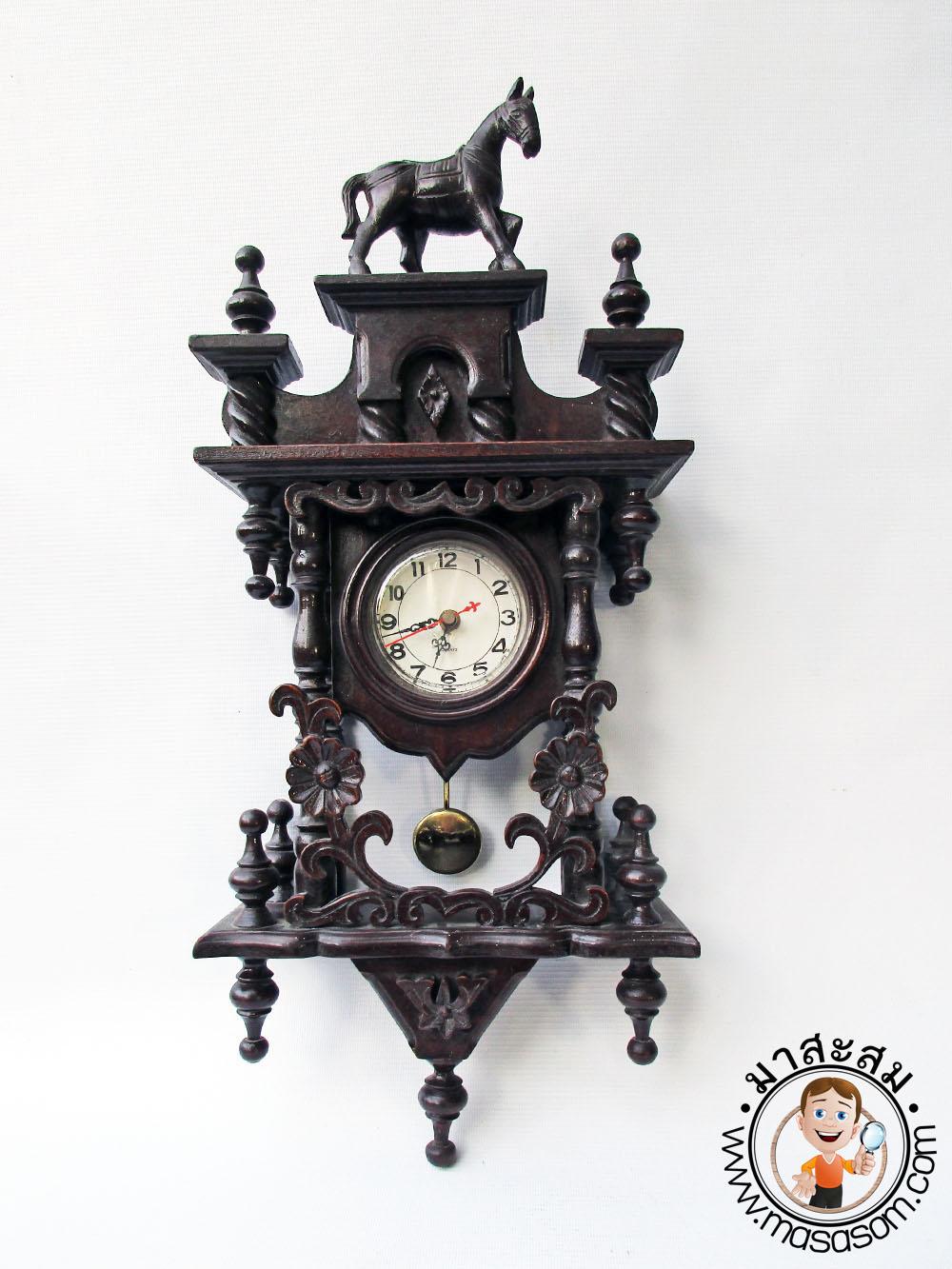 นาฬิกาลูกตุ้มไม้สัก
