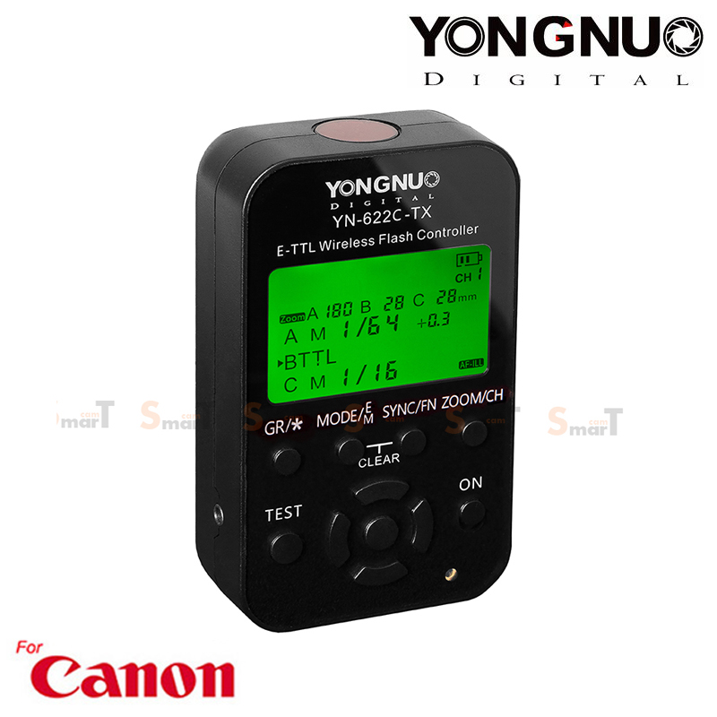 Flash Trigger YN-622C TX Youngnuo for Canon Auto E-TTL II ตัวสั่งงานแฟลชไร้สาย