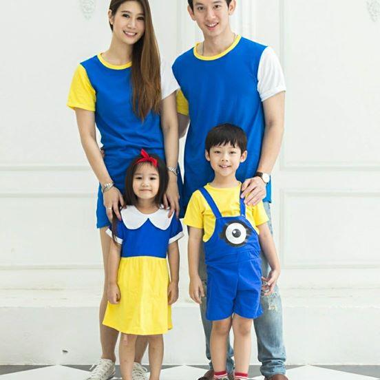 เสื้อครอบครัว ชุดครอบครัว พ่อ แม่ ลูก Like a Fairy Tale