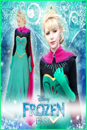 ชุดเอลซ่า Queen Elsa แห่ง Frozen