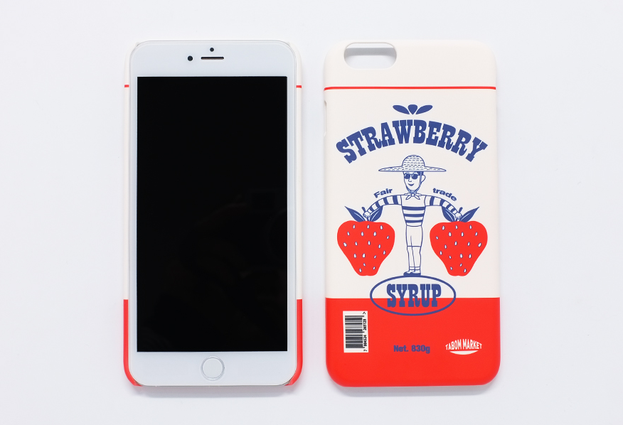 TABOM STRAWBERRY IPHONE 6 PLUS SNAP CASE