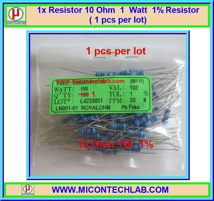 1x Resistor 10 Ohm 1 Watt 1% Resistor ( 1 pcs per lot)