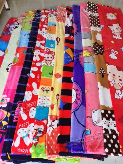 ขายส่ง ผ้าห่มนาโน แบบหนา ลายการ์ตูน ส่ง 140 บาท