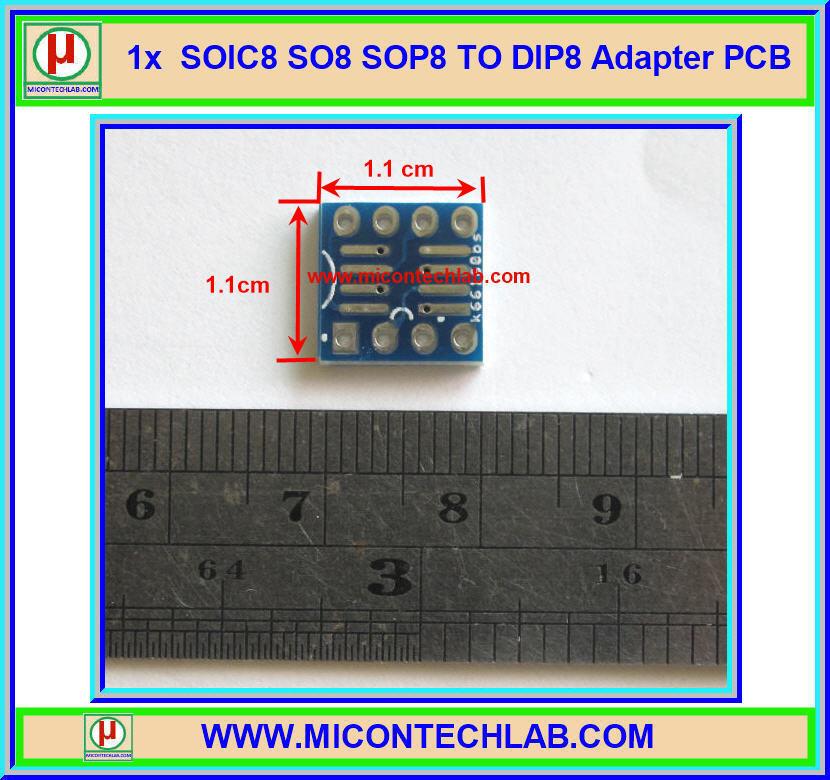 1x SOIC8 SO8 SOP8 TO DIP8 Adapter PCB