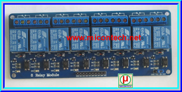 1x Relay 8-channel DC 5V with Opto-isolator module