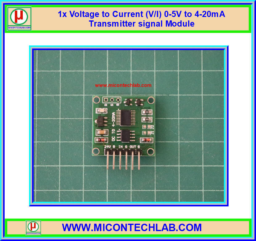 1x Voltage to Current (V/I) 0-5V to 4-20mA Transmitter signal Module