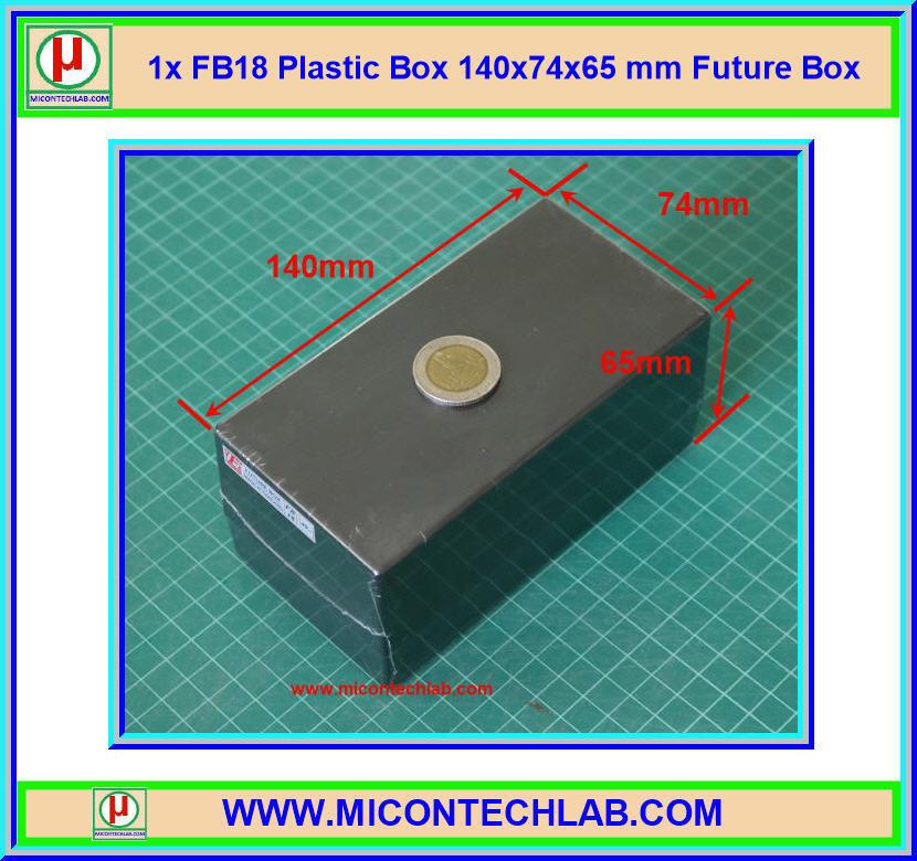 1x กล่อง FB18 สีดำ ขนาด 140x74x65 มม. Future Box