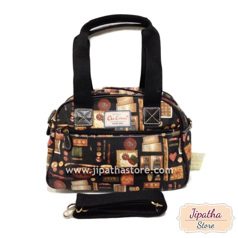 กระเป๋าทรงมน + สายสะพาย 2 ช่องซิป