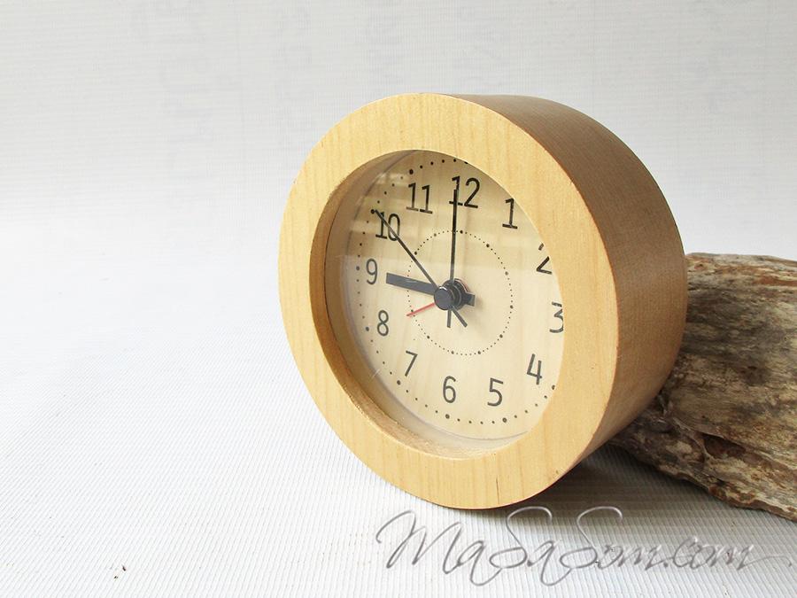 นาฬิกาปลุกไม้ญี่ปุ่น
