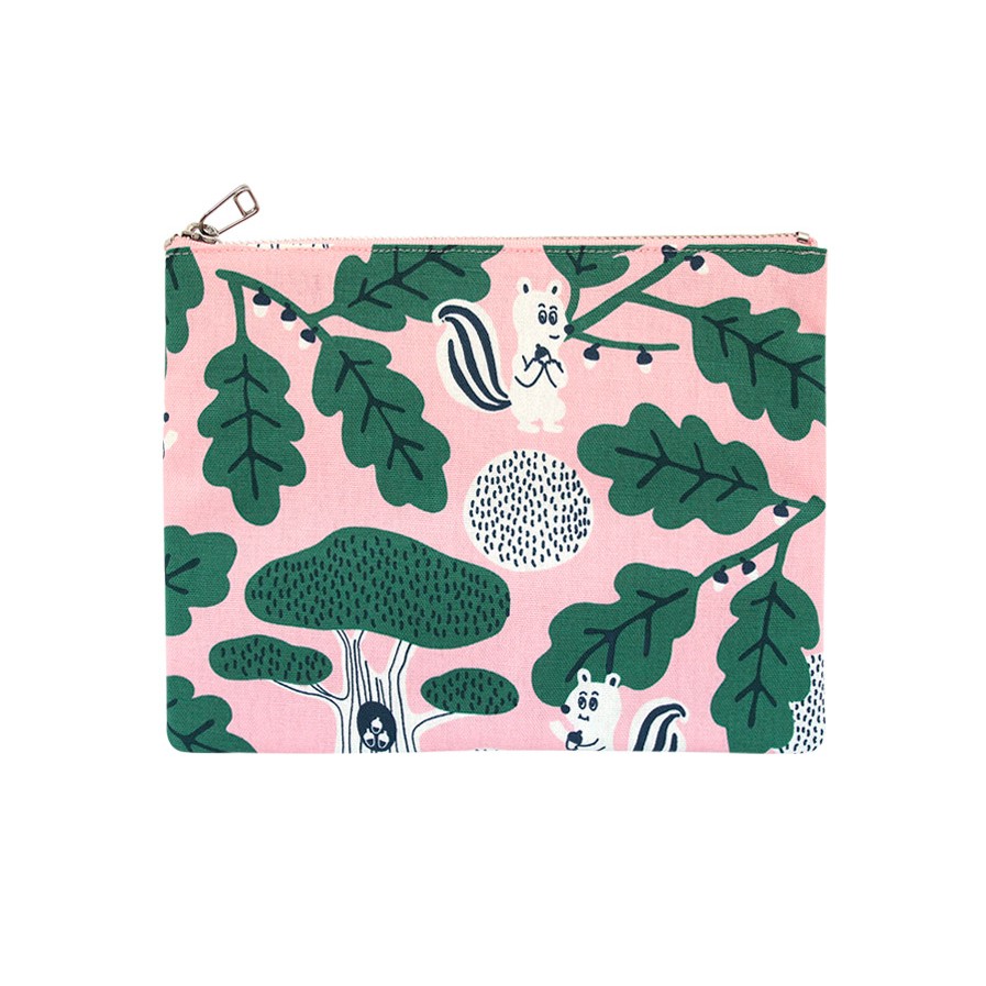 JEAN PAUL IN FOREST PINK COATED POUCH L V2